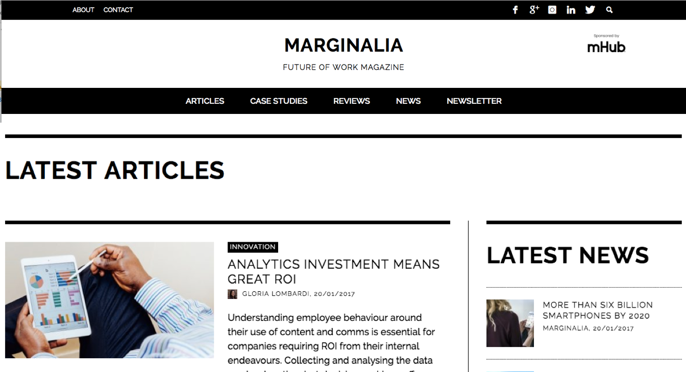 mHub become Official Sponsor of Maginalia - The Future of Work publication 2